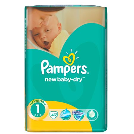 Scutece Pampers New Baby 1 Value Pack, Nou Nascut, 43 buc